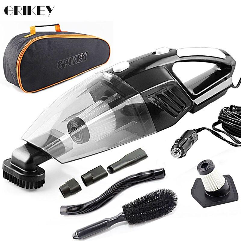 GRIKEY 2 en 1 12 V aspiradora seco mojado 5000 Pa poder aspirador de coche con luces LED aspirador Coche