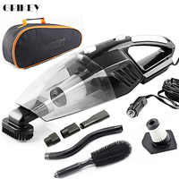 GRIKEY 2 en 1 12V aspiradora seca húmeda 5000Pa fuerte potencia Coche aspiradora con luces LED Aspirador Coche