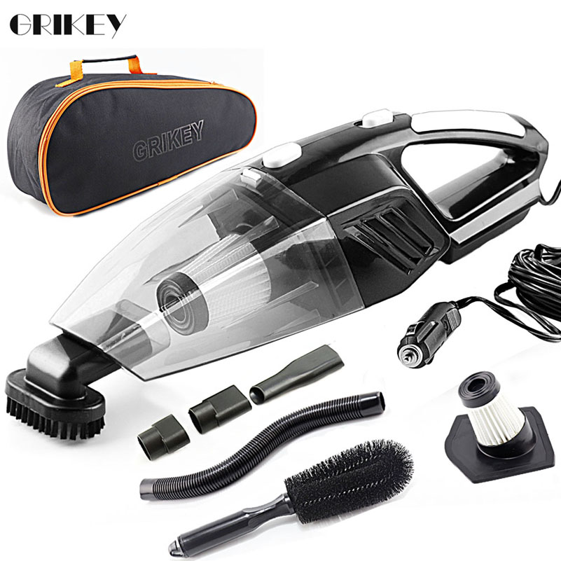 GRIKEY 2 In 1 12V Vacuum Cleaner Dry Wet 5000Pa Strong Power Car Vacuum Cleaner With LED   Lights Aspirador Coche