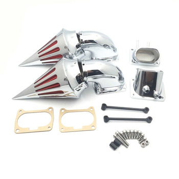 Chrome Dual Spike Air Cleaner Intake Filter Kit For Suzuki Boulevard M109R All Year