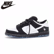 new styles bfd52 67fe2 Nike Dunk Sb Low Jointly Black And White Original New Arrival Men  Skateboarding Shoes Light Sport