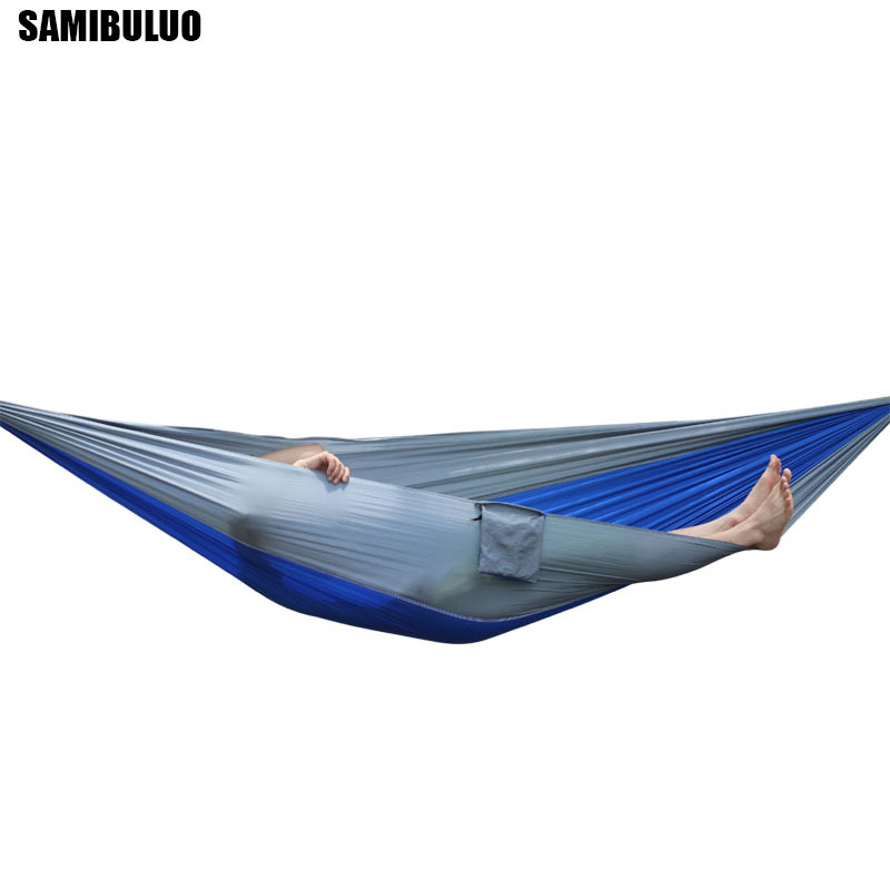 Portable Adult Single Person Hammock Outdoor Backpacking Travel Survival Hunting Sleeping Bed 230*90CM