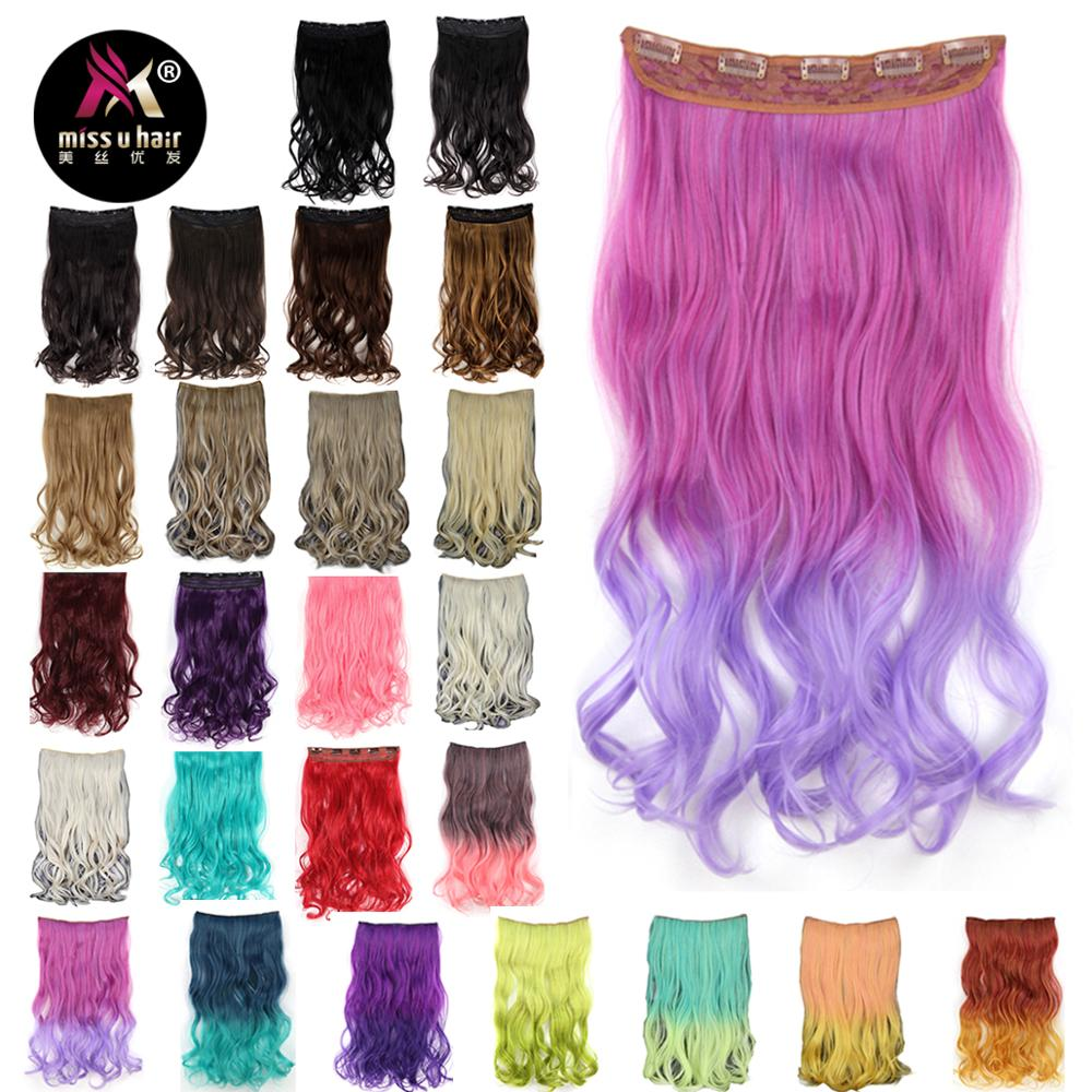 Synthetic Extensions Radient Shangke Single Clip In One Piece Hair Extensions Synthetic Long Straight Made 70 Colors Ombre Red Hair Pieces Quality First Synthetic Clip-in One Piece