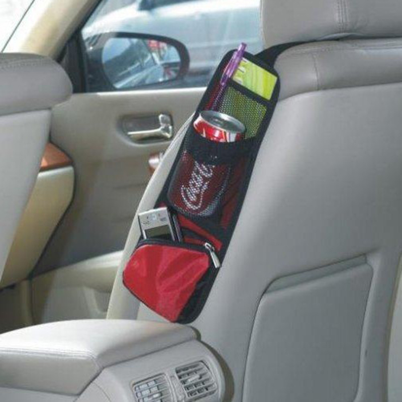 1 PCS Car Seat Storage Bag Car Seat Side Pocket Backseat Drink Holder Hanging Bags Debris Bag Auto Seat Side Hanging For Phone 2
