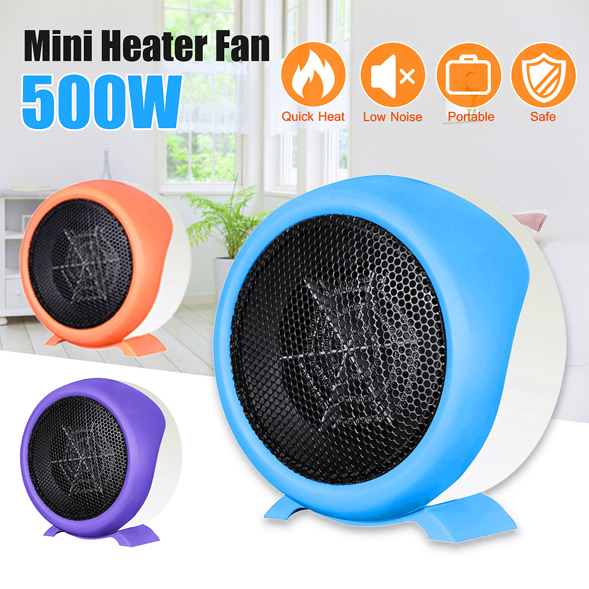 2018 500W 220V Heater Portable Handy Durable Quality Mini Personal Space Heater Electric Winter Warmer Fan Home Office electric portable heater handy durable mini room fan indoor ceramic space heater electric winter warmer fan for office home 220v