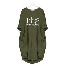 2019 New Fashion shirts Fashion Faith Hope Love Letters Print Tops Tshirt Funny Kyliejenner Rock tshirt women plus size 2