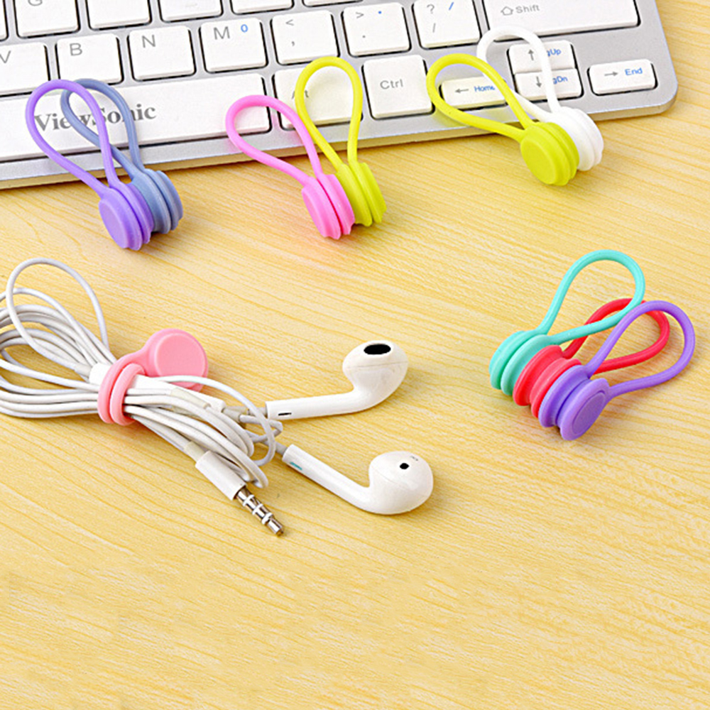 3PCS Soft Silicone Magnetic Cable Winder Organizer Cord Earphone Storage Holder Clips Cable Winder For Earphone 3PCS Soft Silicone Magnetic Cable Winder Organizer Cord Earphone Storage Holder Clips Cable Winder For Earphone For Data Cable