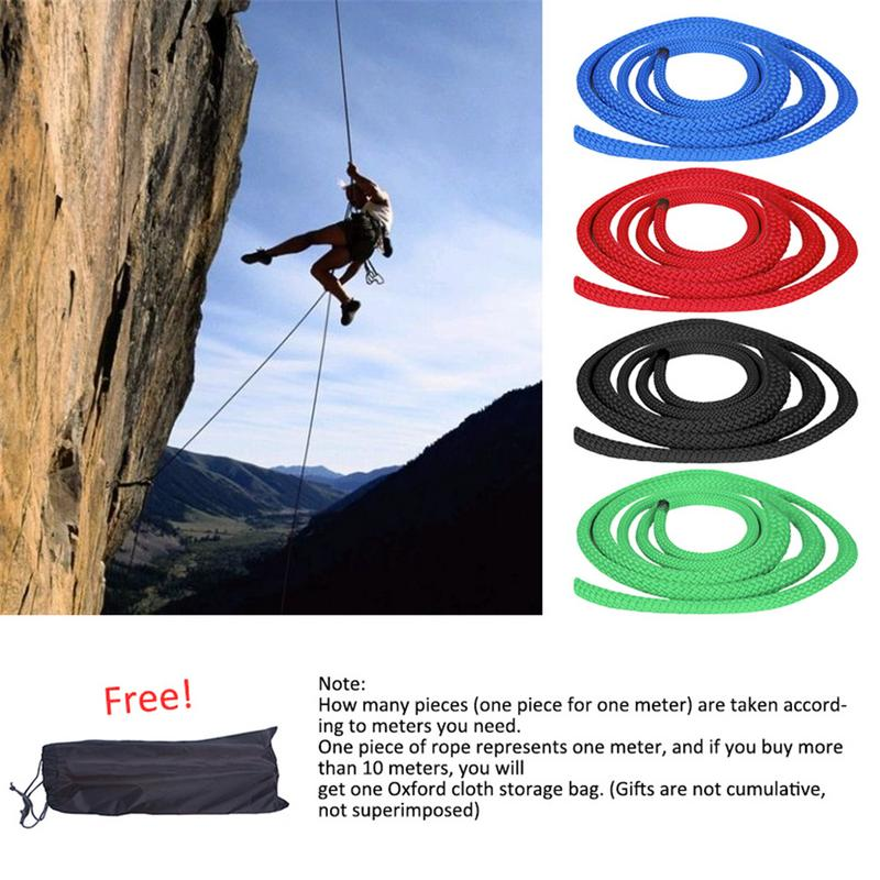 4 Colors Outdoor 8mm Low-Stretch Rope Rescue Rope Climbing Rope Speed Dropping Rope 1 Meter/39.37in