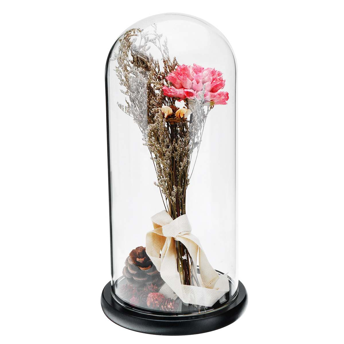 Glass Display Jar Bell Dome Stand Preserved Roses Flower Shade Wedding Party Decoration Mother s Day