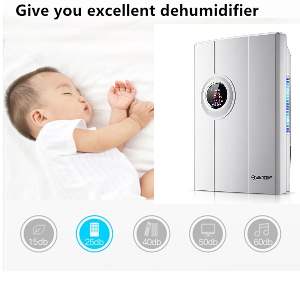 2.2L Air Dehumidifier Mini Air Dryer Temperature Moisture Display Semiconductor Desiccant Absorber Car Home Electric Machine