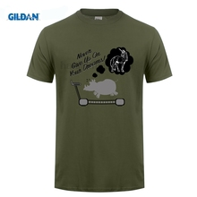 GILDANNever Give Up on Your Dreams T-shirt Rhino Unicorn Humour Funny Birthday Gift Print T Shirt Harajuku Short Sleeve Men Top