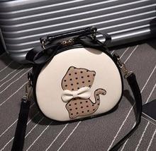 Fashion Female Bag Shoulders Luxury Cat printing Handbags Women Bags Designer Mini Crossbody Leather Girls Shoulder bags New
