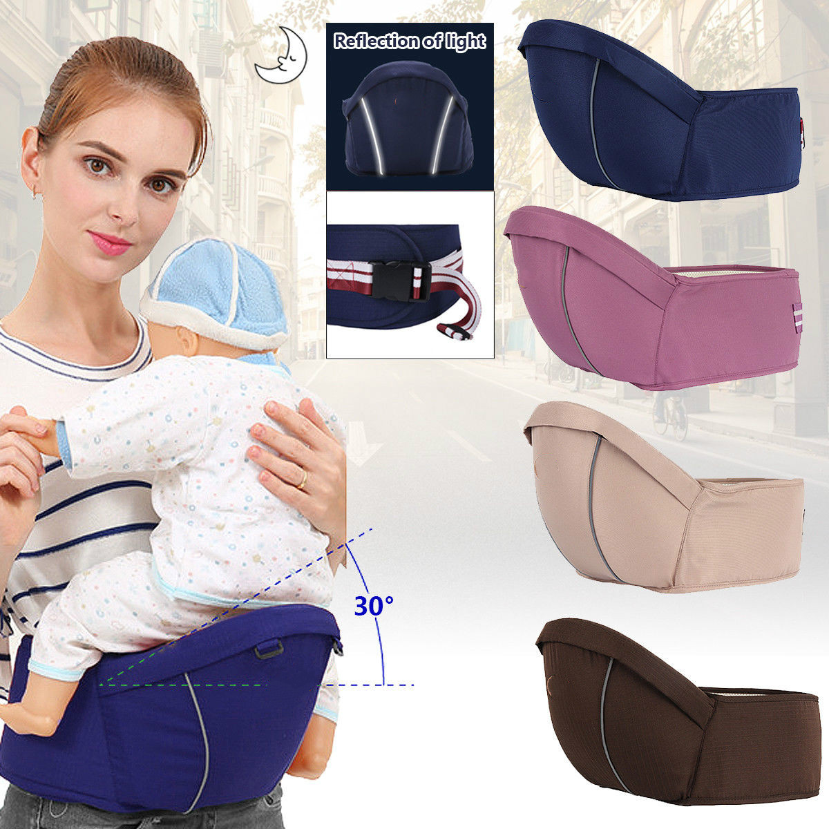Kids Hip Seat Newborn Boy Girl Baby Front Sling Carrier Carriage Hip Seat Belt