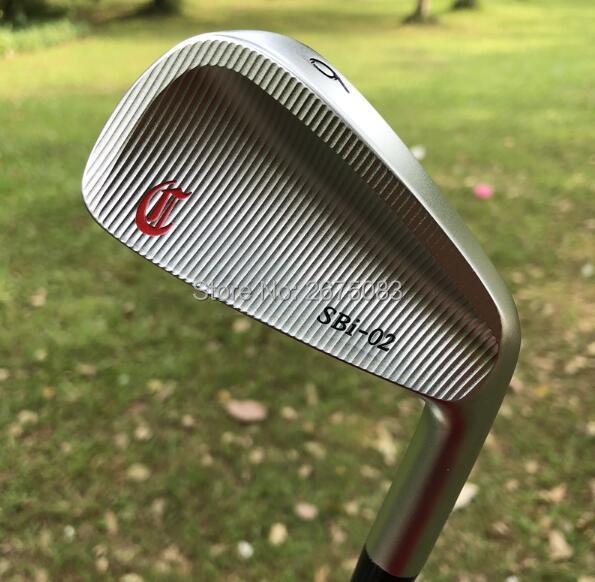 Jeu de fer de SBi-02 fou Golf forgé fers Clubs de Golf 456789 P (7 pièces) R/S Flex arbre en acier avec couvre-tête