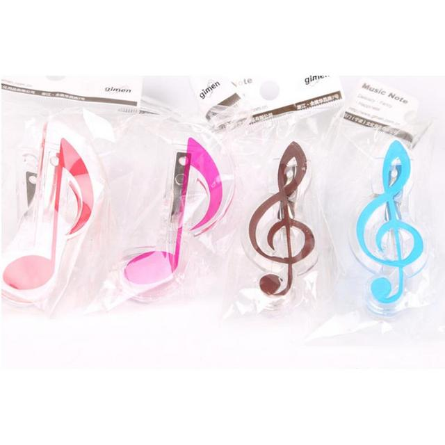 US $2 08 38% OFF|4pcs Creative Musical Note Clips Music Score Book Page  Clips Photos Tickets Letter Paper Clip for Guitar Violin Piano Player-in