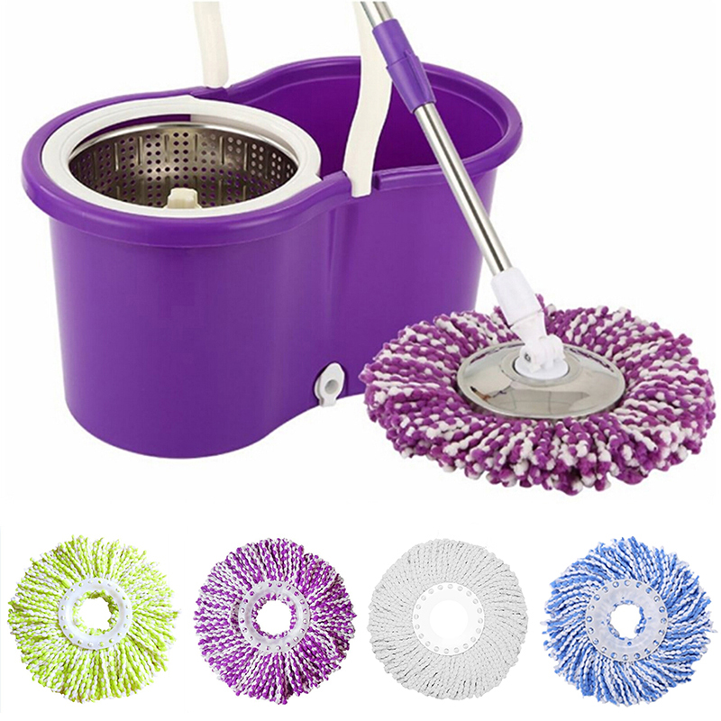 360 Rotating Replaceable Spin Mop Head Made with Microfiber for Household Floor Cleaning 1