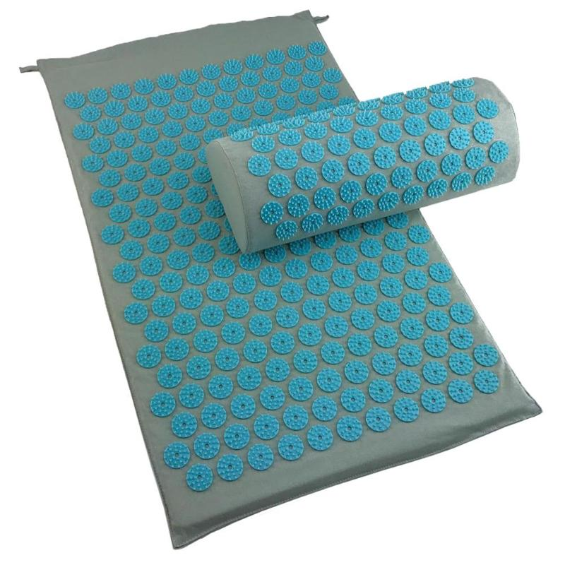 Stress and Pain Relaxing Acupressure Massage Mat with Cushion Set to release Stress and Tension 3