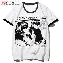 Sonic youth camiseta hip streetwear, camiseta masculina para escola, engraçada, hop, 2019, harajuku, roupas top, f2925