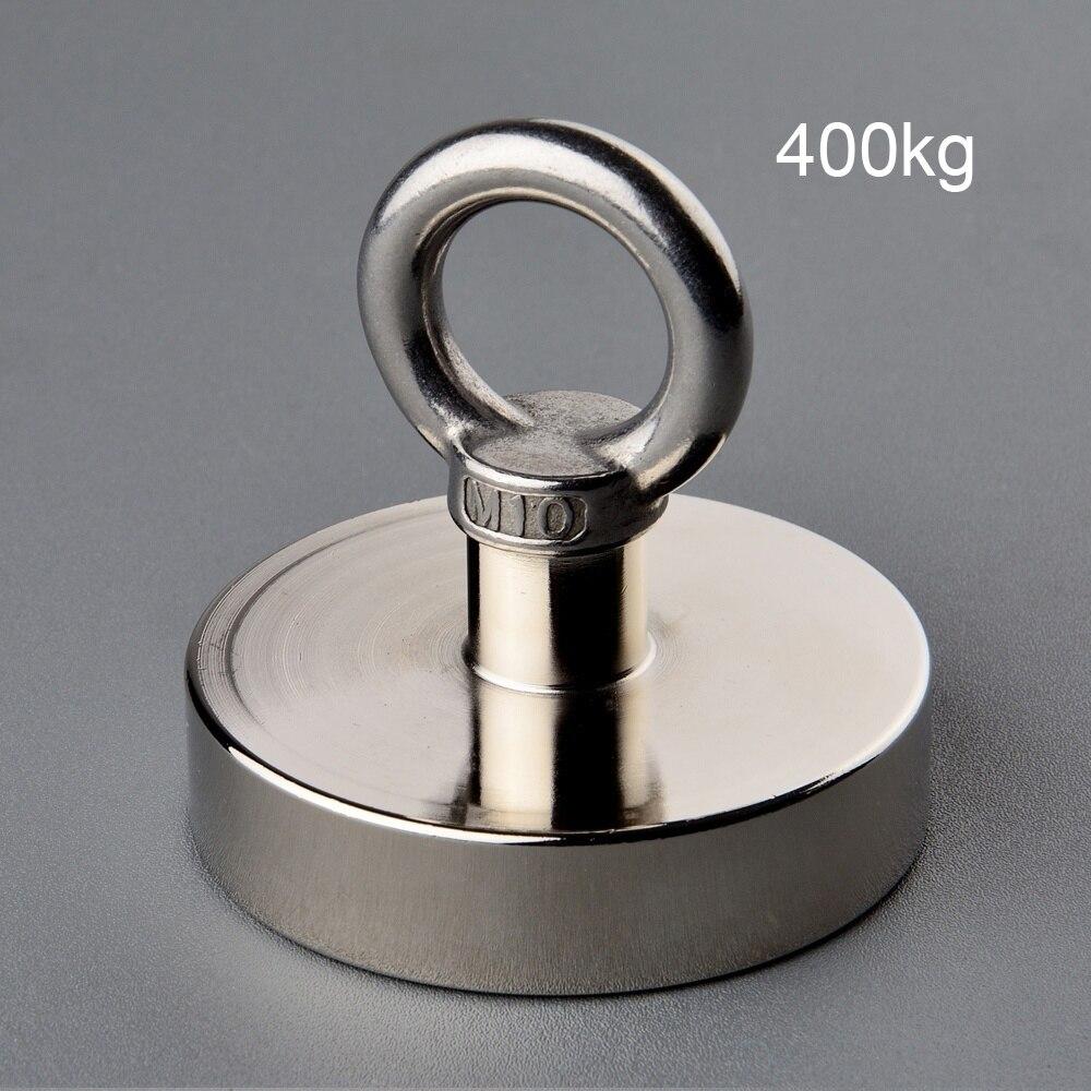 90mm Diameter Strong Salvage Magnet Pot Fishing Magnets Deep Sea Hook Neodymium Treasure Hunter with Eyebolt