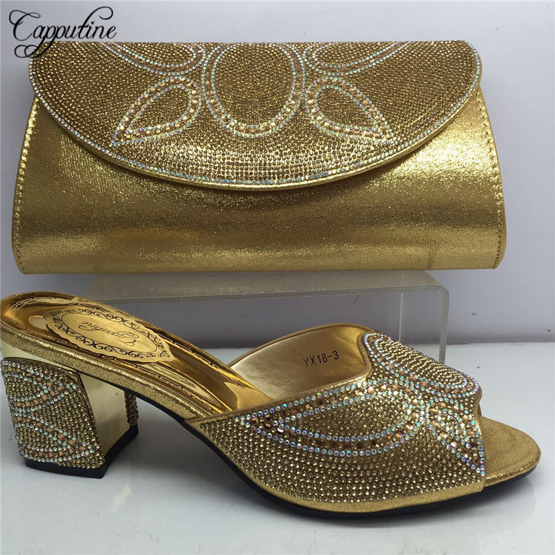 Capputine Hot Selling African Style Ladies Pumps Shoes  With Purse Set  Italian High Heels Shoes And Bag Set On Stock BL165CCapputine Hot Selling African Style Ladies Pumps Shoes  With Purse Set  Italian High Heels Shoes And Bag Set On Stock BL165C