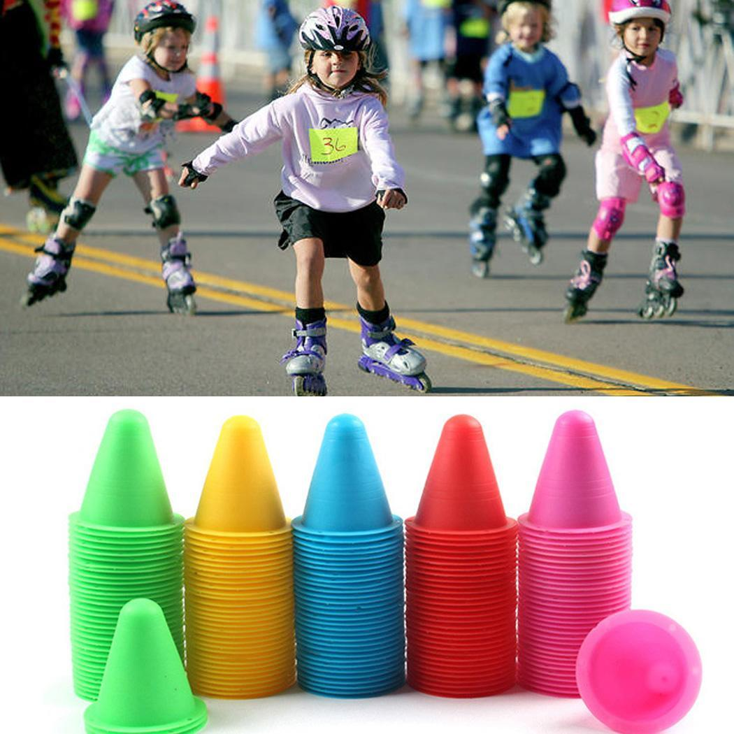 Soccer 10pcs 18cm Soccer Trainning Cone Stadium Marking Agility Training Marker Free Slalom Skate Pile Cup Football Training Equipment To Suit The PeopleS Convenience
