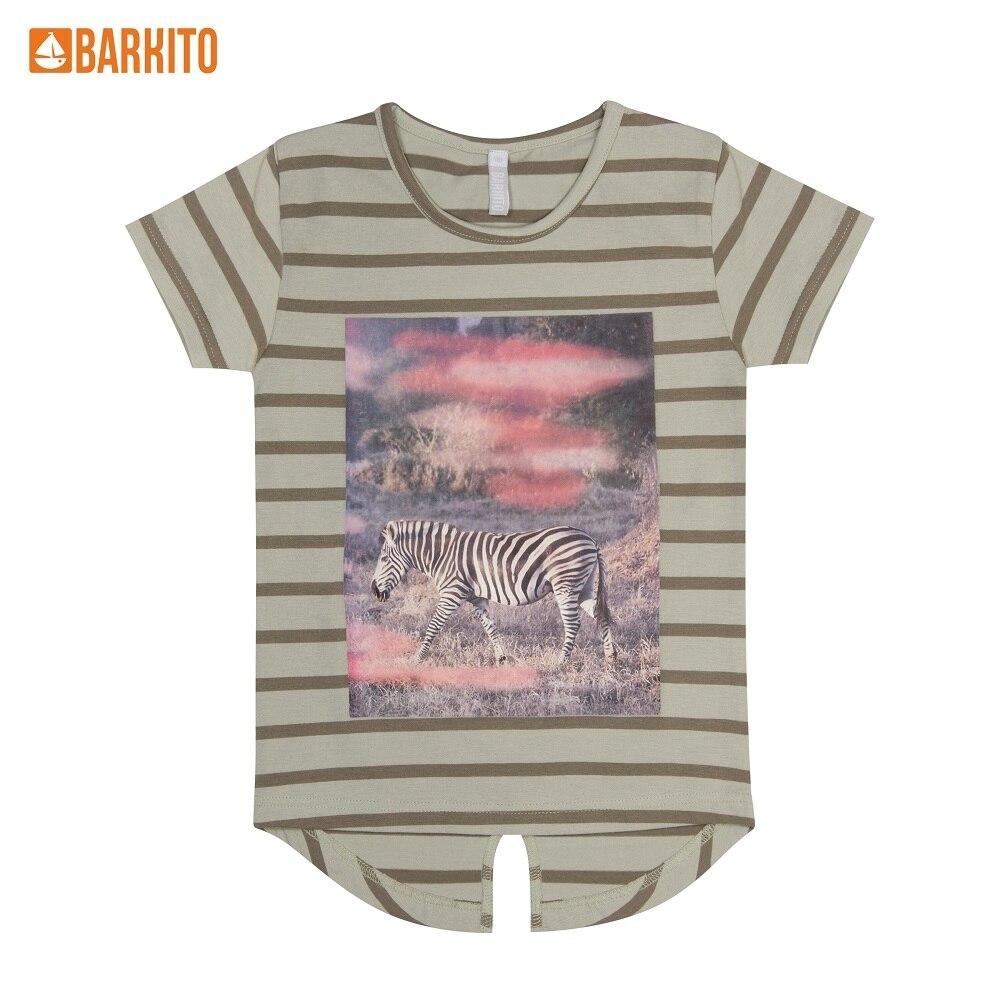 T-Shirts Barkito 339040 children clothing Cotton 45A-30013KOR Green Girls Casual толстовки barkito 45a 27041kor