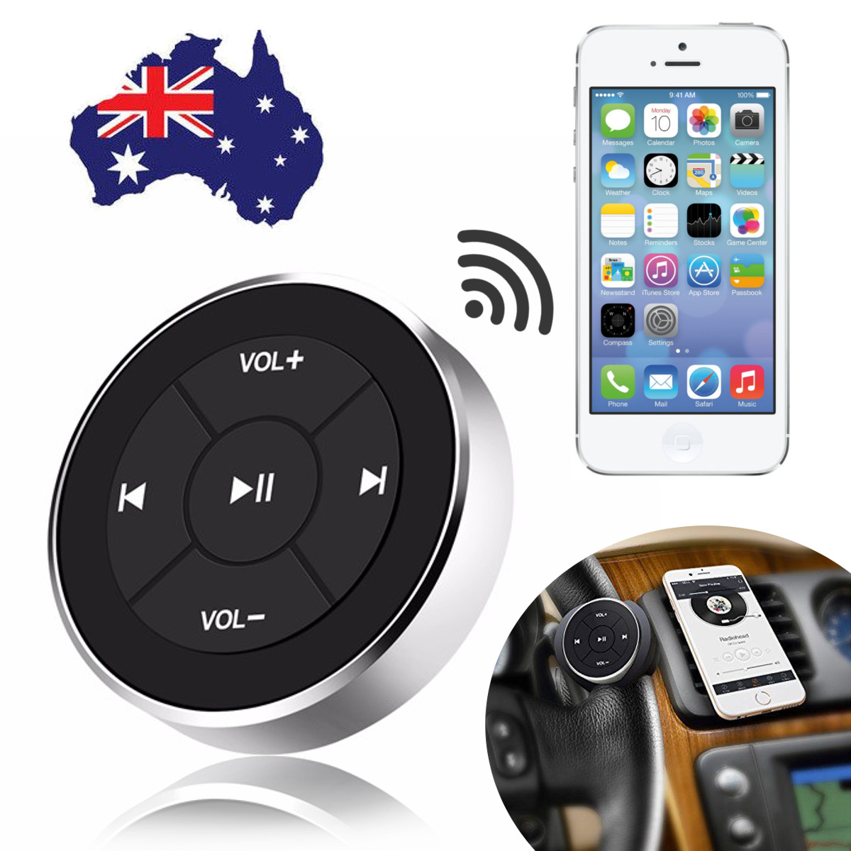 IMars BT-005 12M Car Bluetooth Receiver Media Button Series Remote Control Smartphone Audio Video Bluetooth Media Button