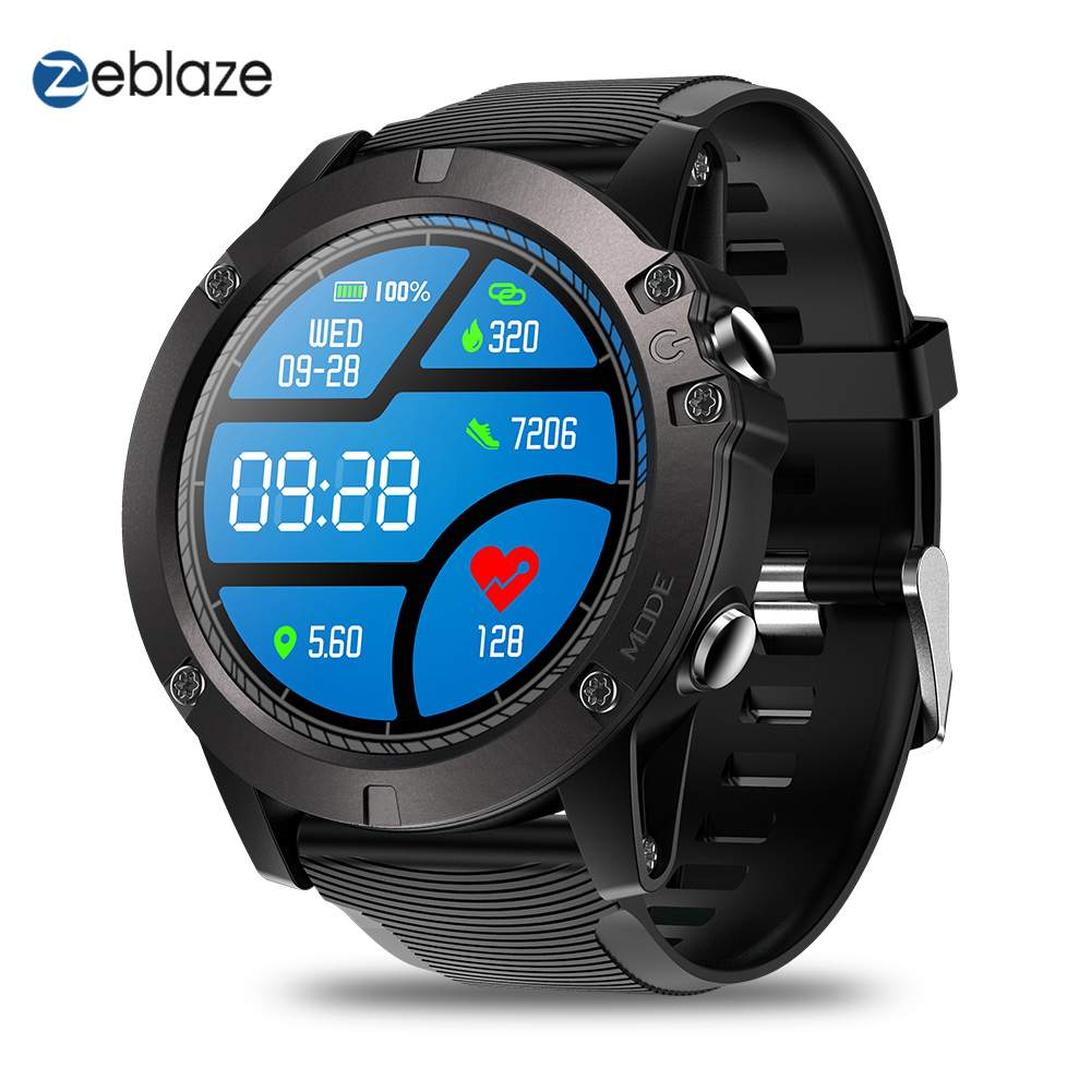 New Zeblaze VIBE 3 Pro Smart Watch 2019 Men Real-time Weather Optical Heart Rate Monitor All-day Tracking Sports Smartwatch orologio delle forze speciali