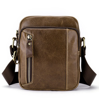 New Leisure Genuine cow leather Men's Small Bag Shoulder Bags Soft Leather Vertical Section iPad Male Messenger bags