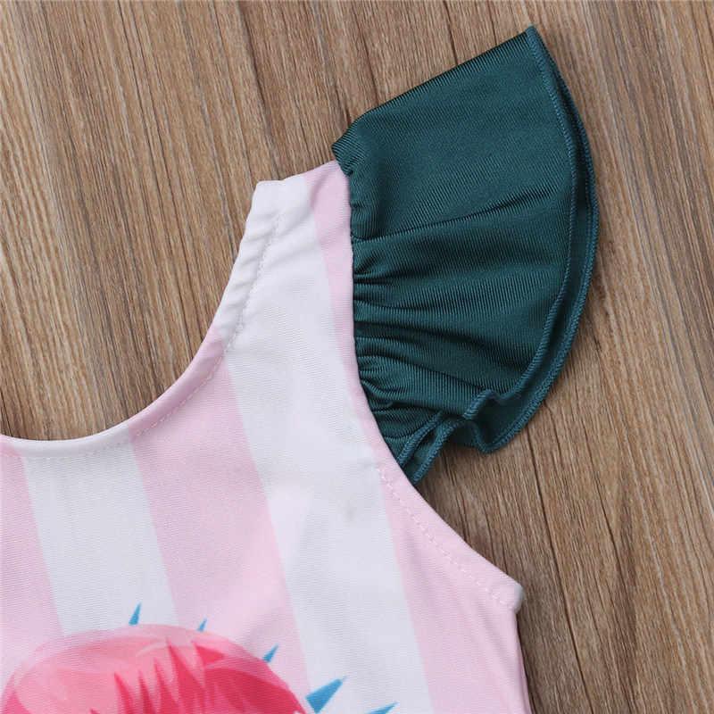 2019 子供水着新生児女の子水着夏幼児ビーチウェアフラミンゴ水泳衣装幼児子供水着