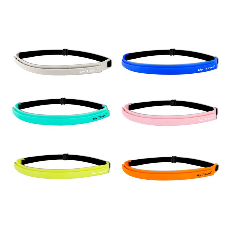 Non Slip Silicone Sweatband Sport Fitness Headband Badminton Basketball Running Headbands Hair Sweat Band Unisex Wicking Strap