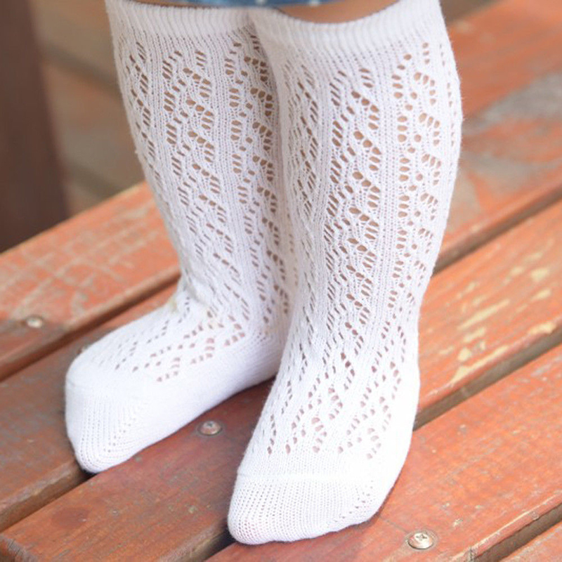 2019 Toddler Newborn Baby Infant Girl Socks Mesh Non-Slip Knee High Lace Princess Socks Long Tube Booties Solid Casual Soft New