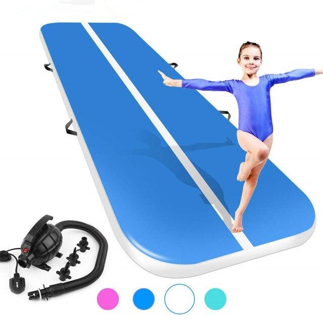 Nieuwe (4m5m6m) * 2 m * 0.2 m Opblaasbare Gymnastiek Airtrack Tumbling Air Track Floor Trampoline Voor Thuisgebruik/training/ cheerleading/strand