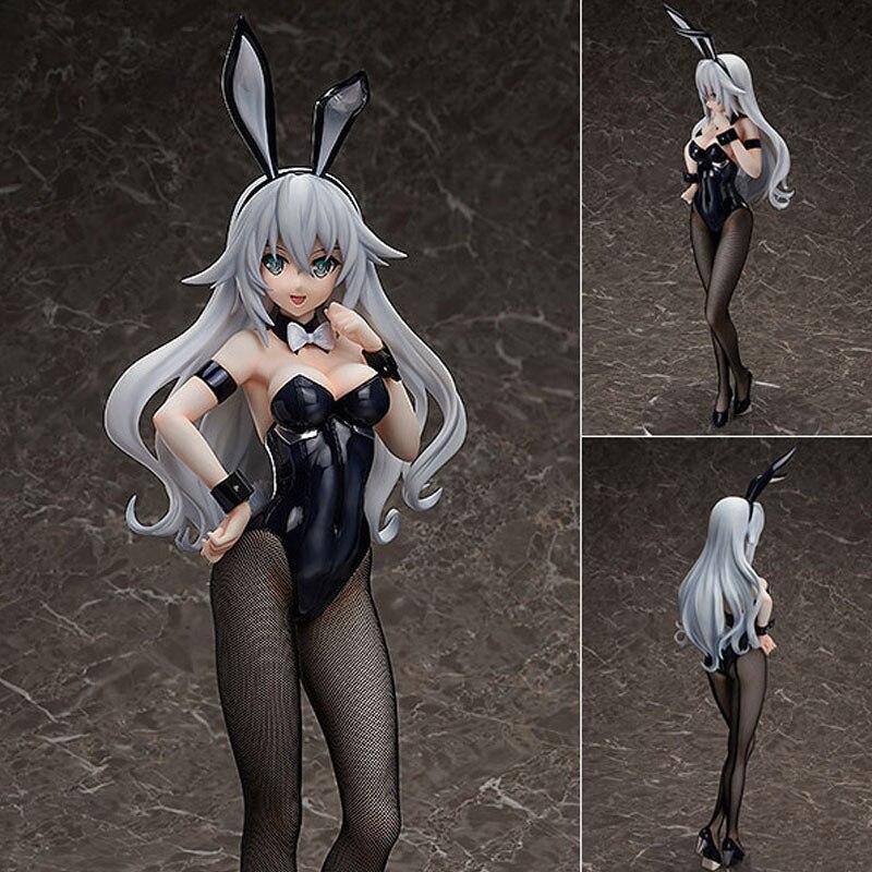 Libérer coeur noir lapin fille Blanc Hyperdimension neptunia fille sexy PVC figurines jouets Anime figure jouets pour enfants