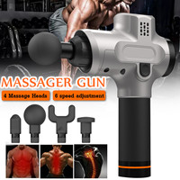 6 Speed Electronic Therapy Body Massage Guns 24V Brushless LED Massage Guns Body Muscles Relaxing Relief Pains With 4 Heads