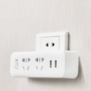 Image 3 - Original Xiaomi Mijia Power Strip Converter Portable Plug 2 USB Travel Adapter Electric Wall AC 5V 2.1A 2 Sockets Fast Charging