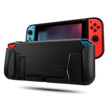 Gamepad Protective Case Cover For Nintendo Switch Soft TPU Grip Scratch Shock Absorption With 8 Thumb Grips Caps