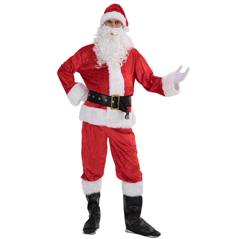 LONG SANTA HAT LADIES MENS FATHER CHRISTMAS FANCY DRESS COSTUME ACCESSORY XMAS