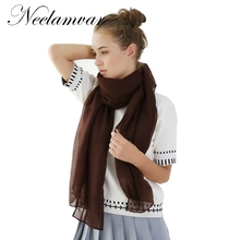 купить High Quality   NEW Arrived Women Cotton viscose Scarf Fashion Warm Solid Colors Shawl 180*80cm free shipping по цене 260.09 рублей