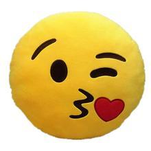 Симпатичные Emotion стиль мягкие круглые плюшевые Пледы Подушки Детские подушка-валик(Kiss Pattern