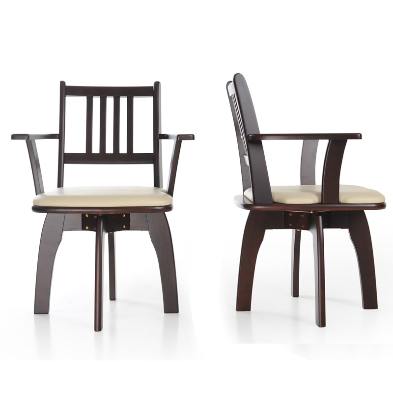 Modern Chinese Household Solid Wood Chair Multifunction Stable Computer Chair With Armrest Dining Chair Rotated Wooden Stool