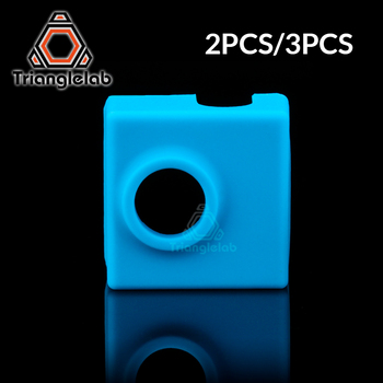 trianglelab MK8/ MK9/CR10 HEAT BLOCK socks for ENDER 3 CR10 MK8/MK9 HOTEND 3D Printer cartridge heater bock silicone socks 1pc blue pink black mk7 mk8 mk9 silicone socks for ender creality cr 10 anet reprap tronxy x5s silicone heater block cover