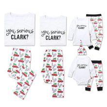 Пижамный комплект для всей семьи с веселыми рождественскими елками, пижамный комплект для всей семьи