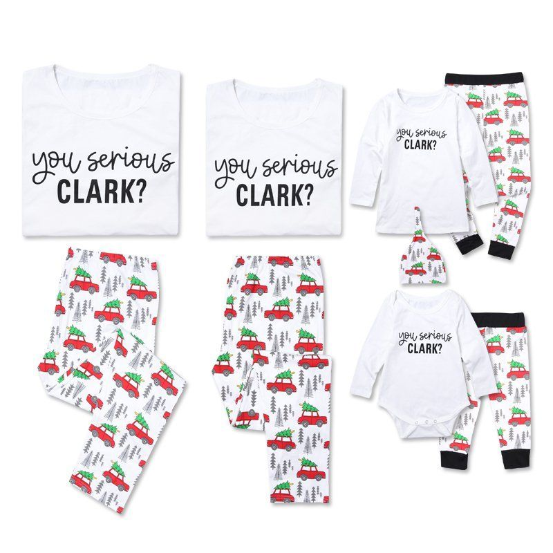 Cheerful Christmas Trees Printed Family Matching Pajamas Set You Serious Clark Pajamas