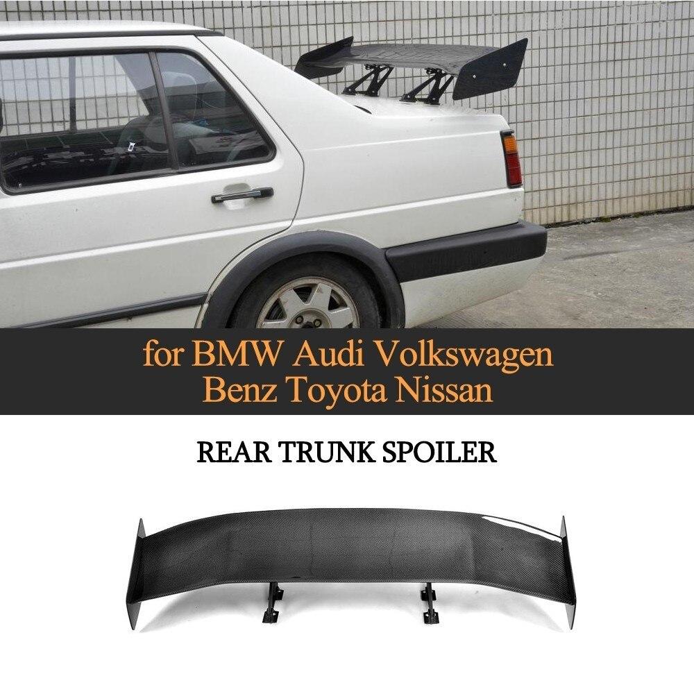 Becquet universel pour BMW F80 E46 E90 E92 M3 F82 M4 F87 M2 E60 F10 M5 style de voiture fibre de carbone lèvre de coffre arrière becquet de coffre