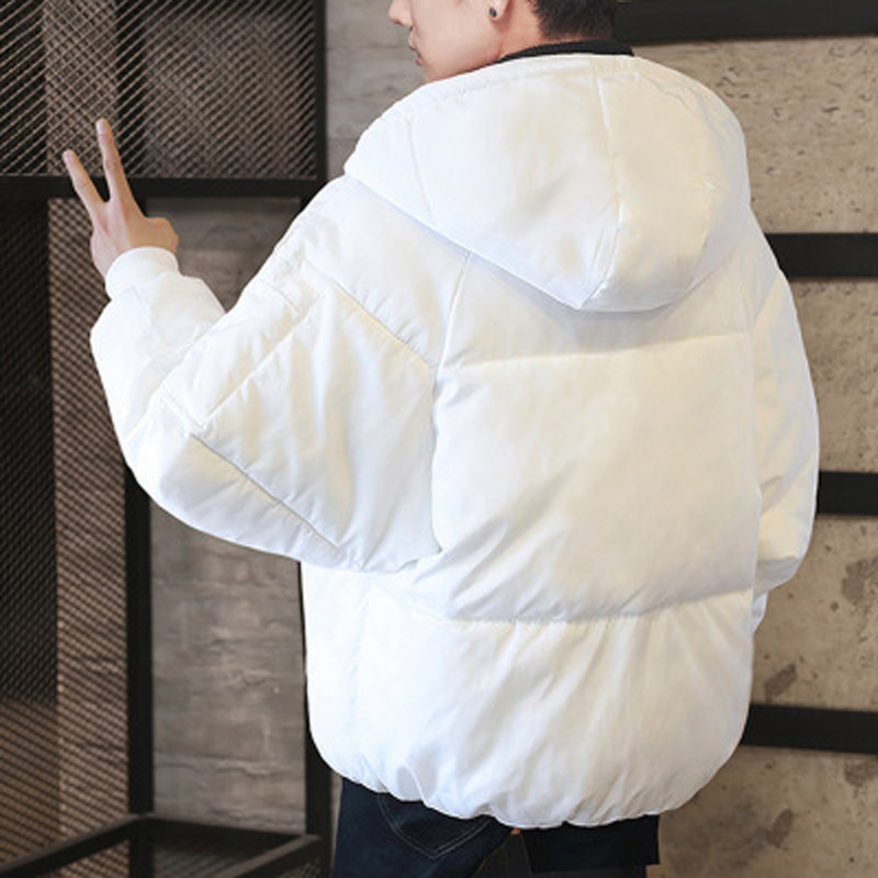 2019 Männer Der Winter Jacke Große Größe Solid Black Zipper Lose Parka Masculina Hoodie Dicke Warme Brot Kleidung Zeit Begrenzte So Effektiv Wie Eine Fee Herrenbekleidung & Zubehör