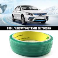 50 M Line Without Knife Belt Design Tool Vinyl Package Car Sticker Packaging Carbon Film With Cutting Knife Auto Supplies