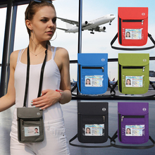 Waterproof Unisex Multi Use Shoulder Bag Travel Neck ID Packet Mini Hanging Fashion Document Card With Hook ~