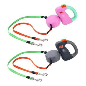 Image 1 - Adeeing Automatic Retractable Walking Double Lead Leash Dog Traction Rope for Pet Outdoor Walking