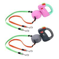 Adeeing Automatic Retractable Walking Double Lead Leash Dog Traction Rope for Pet Outdoor Walking